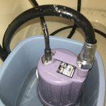 追い焚き配管洗浄中