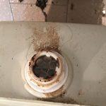浴槽排水口清掃前